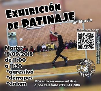 Exhibición de patinaje por MFSK en el CP Mariano Aroca